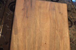 Дървена подложка 2 лица - дъб + дъб и орех 1-1