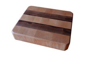Mini Big 26.5 x 23 x 5 endgrain - Beech-walnut