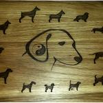 дъска за рязане Кучета гравирана