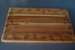 Дъска за рязане Дъб - листа лазерна гравюра 2