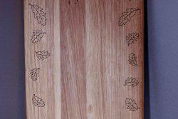 Дъска за рязане Дъб - листа лазерна гравюра 3
