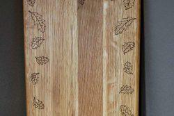 Дъска за рязане Дъб - листа лазерна гравюра 4
