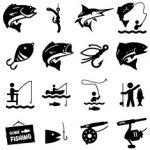 stock-illustration-21315778-fishing-icons-black-series