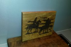 cutting board with horses 2
