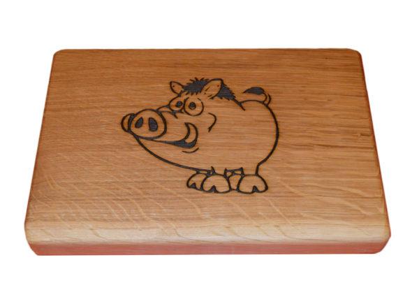 прасенце дъбова кухненска дъска